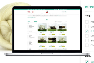 New e-commerce website for World of Wool
