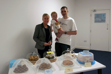 CEO of Children's Heart Surgery Fund Sharon Coyle at the Applied Digital charity bake sale!