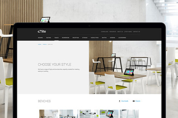 New responsive website for Elite Office Furniture.