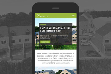 Website design and development for SB Homes.